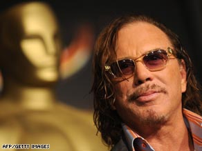 "Sure thing: Pundits are saying that Mickey Rourke is almost certain to pick up the Best Actor Oscar for his role in Darren Aronofsky's ""The Wrestler."""