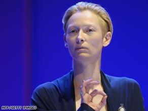 Actress Tilda Swinton, Jury President at this year's Berlin International Film Festival.