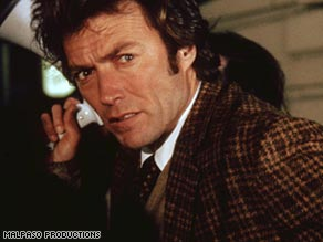 "Clint Eastwood stars as inspector Harry Callahan in ""Dirty Harry"" (1971)."