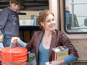 "Amy Adams gets to work cleaning up as Rose in the indie comedy ""Sunshine Cleaning."""