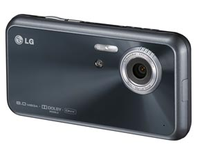 The LG Renoir KC910 touch-screen mobile has an eight megapixel camera and can record videos up to 120 frames per second.