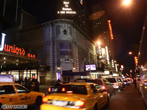 The usually brilliant lights of Broadway dim for one minute Thursday in honor of Natasha Richardson.