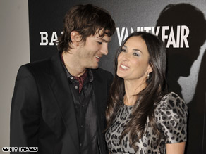 Ashton Kutcher and Demi Moore are both active members of the Twitter social-networking site.