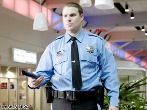 "Seth Rogen goes on patrol as a mall cop in ""Observe and Report."""
