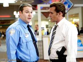 "Ray Liotta (right) co-stars with Seth Rogen in ""Observe and Report,"" which opened Friday."