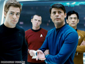In the film, Spock (Zachary Quinto, left) and Kirk get off on the wrong foot.