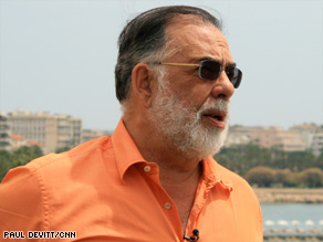 "Director Francis Ford Coppola traveled to Cannes to unveil his new film ""Tetro."""