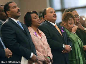 From left, Dexter, Bernice, Martin and Yolanda King. The three surviving siblings have had several public rifts.