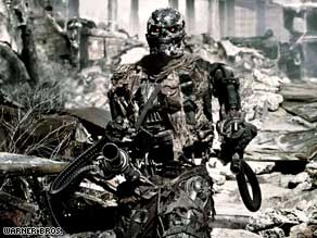 "Many of the robots in ""Terminator Salvation"" are real machines, which increased realism, the cast says."