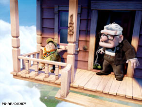 "A boy tags along with an old man and his traveling house in the new Pixar movie, ""Up."""