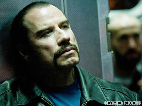 "John Travolta stars as a villainous ex-inmate in ""The Taking of Pelham 123,"" which opens in theaters Friday."