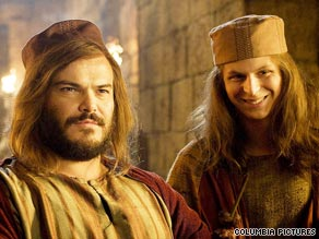 "In ""Year One,"" Jack Black stars as an inquisitive Stone Age man, with Michael Cera as his sidekick."