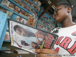 Nollywood's cheaply-made, video-format movies are wildly popular across Africa, but piracy is eating half of the industry's profits.