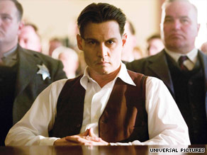 "Johnny Depp plays the charismatic John Dillinger in ""Public Enemies."""