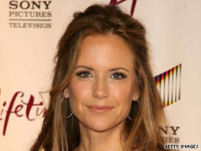"Kelly Preston is going to speak on a panel titled ""Grief and Resilience"" in October."