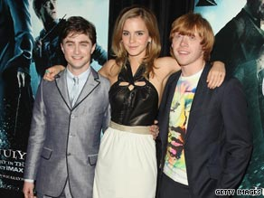 "Daniel Radcliffe, Emma Watson and Rupert Grint have kept each other ""level-headed,"" said Radcliffe."