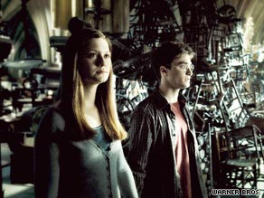 "Ginny Weasley and Harry Potter develop a romance in ""Harry Potter and the Half-Blood Prince."""
