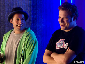 "Adam Sandler and Seth Rogen play comedians in ""Funny People."""