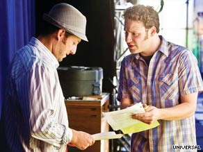 "Adam Sandler and Seth Rogen star in ""Funny People,"" the new film from Judd Apatow."