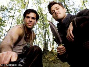 "Eli Roth and Brad Pitt star in ""Inglourious Basterds."" Roth also directed a short film within the film."