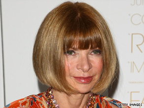 "Anna Wintour, editor-in-chief of American Vogue, attends a screening of ""The September Issue"" in New York."