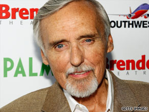 """Dennis Hopper was in New York promoting his show """"Crash."""""""