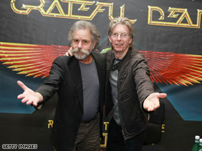 The band now tours as The Dead out of respect for the late Jerry Garcia, right, the Grateful Dead's guitarist.