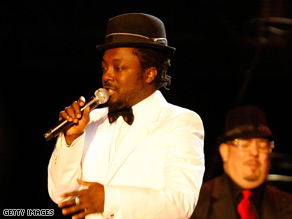 Will.i.am performs at the Neighborhood Inaugural Ball on January 20 in Washington.