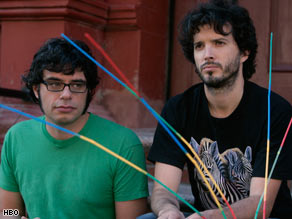 "Jemaine Clement and Bret McKenzie are a struggling musical duo in ""Flight of the Conchords."""