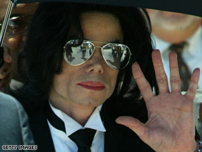 """King of Pop"" Michael Jackson, seen in 2005, made the ""Thriller"" video with John Landis more than 25 years ago."