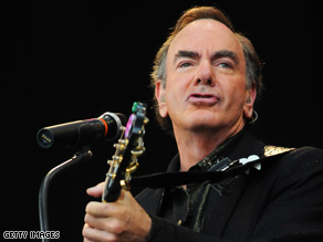 Neil Diamond is riding high with a huge world tour, a successful album and a humanitarian award.