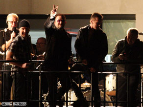 "The band performed a ""secret concert"" Friday from the rooftop of BBC headquarters in London."
