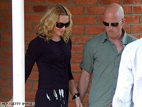 Madonna is pictured leaving a court in Malawi late last month.