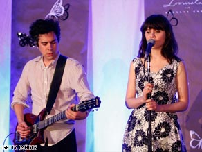 M. Ward performs with Zooey Deschanel in a pairing the duo calls She & Him.