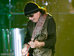 Carlos Santana will start a 72-show residency in Las Vegas in May at the Hard Rock Hotel and Casino.