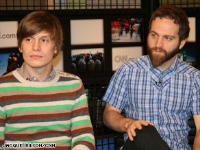 Chris Walla, left, and Nick Harmer of indie band Death Cab for Cutie discuss their newly released EP.