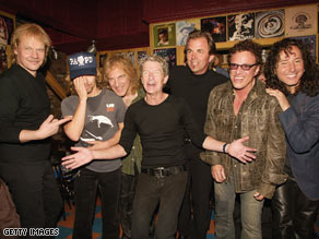 Members of Styx, REO Speedwagon and Journey in 2003. Styx and REO have teamed up for a song and tour.