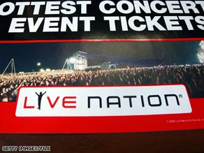 Live Nation is awaiting government approval of a merger with giant Ticketmaster.