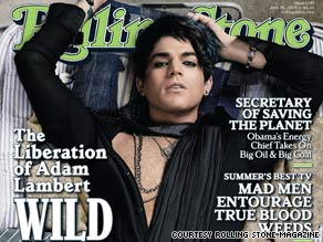 "Adam Lambert talks about his sexuality and his ""Idol"" experience in the new Rolling Stone."