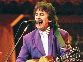"""George Harrison, shown here in 1992, had hits with """"My Sweet Lord"""" and """"All Those Years Ago,"""" among others."""