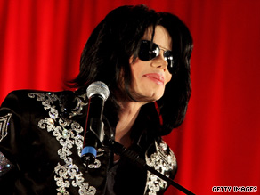 Fans gather at Vine and Sunset in Hollywood, California, on Thursday evening to mark Michael Jackson's death.