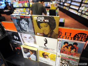 Stores around the globe are seeing a surge in sales for Michael Jackson's music.