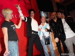 The new waxwork of Michael Jackson -- only Queen Elizabeth II has been portrayed more times by Madame Tussauds.