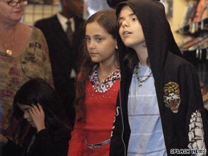 From left: Prince Michael Jackson II, Paris-Michael Katherine Jackson and Michael Joseph Jackson Jr.