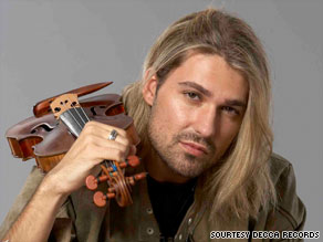 David Garrett uses his 300-year-old Stradivarius to play Mozart -- and Michael Jackson.