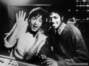 Paul McCartney and Michael Jackson in 1983. McCartney said Jackson will be missed.