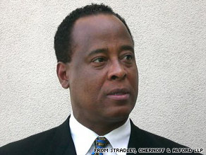 "Dr. Conrad Murray's office was searched Wednesday for ""evidence of the offense of manslaughter."""