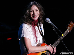 "Nanci Griffith, who says she's ""fed up with negativity,"" was revitalized by the election of Barack Obama."