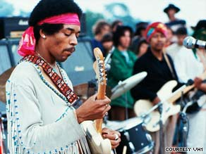Jimi Hendrix closed the Woodstock festival on Monday morning, August 18, 1969.
