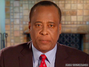 In Dr. Conrad Murray's video, posted on YouTube, he tells supporters he has been receiving their messages.